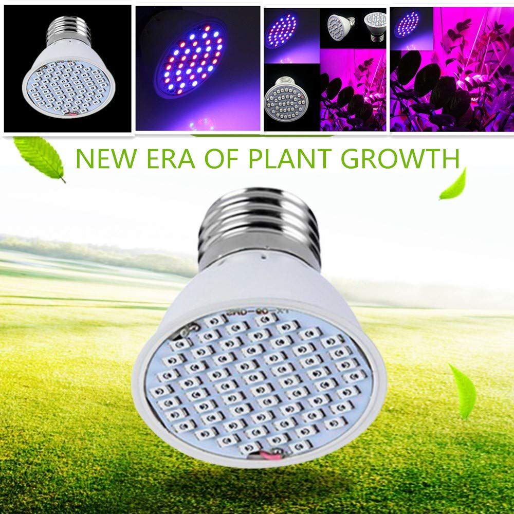 3W 36 LED Grow Light Bulb for Indoor Plants, Grow Bulbs Full Spectrum Grow Lights for Growing Plants Lamp, Vegetables and Flowers, Plant Growing Lights Bulbs for Hydroponics Greenhouses Gardening