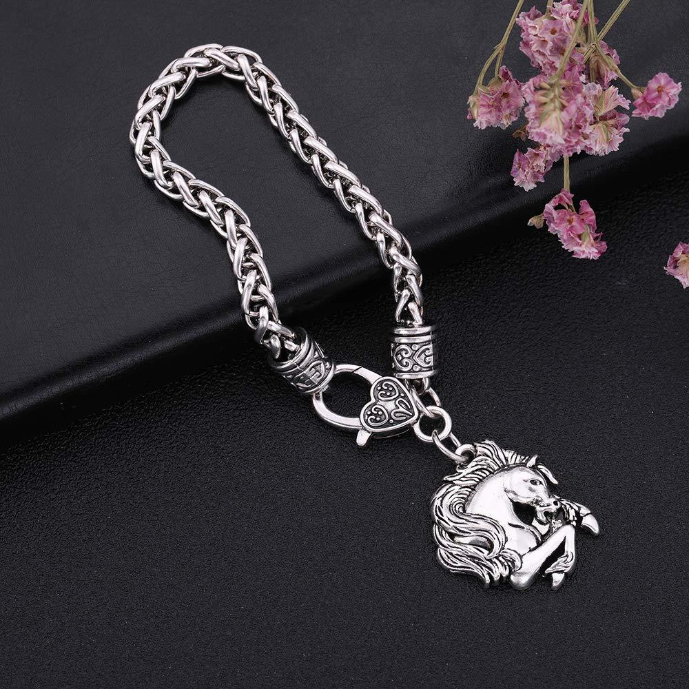 Fishhook Animal Bracelet Viking Bracelet Wheat Chain Charm Bracelet Cute Pendant Bracelet Best Gift for Women Men Mom Best Boys Girls Friends Lover