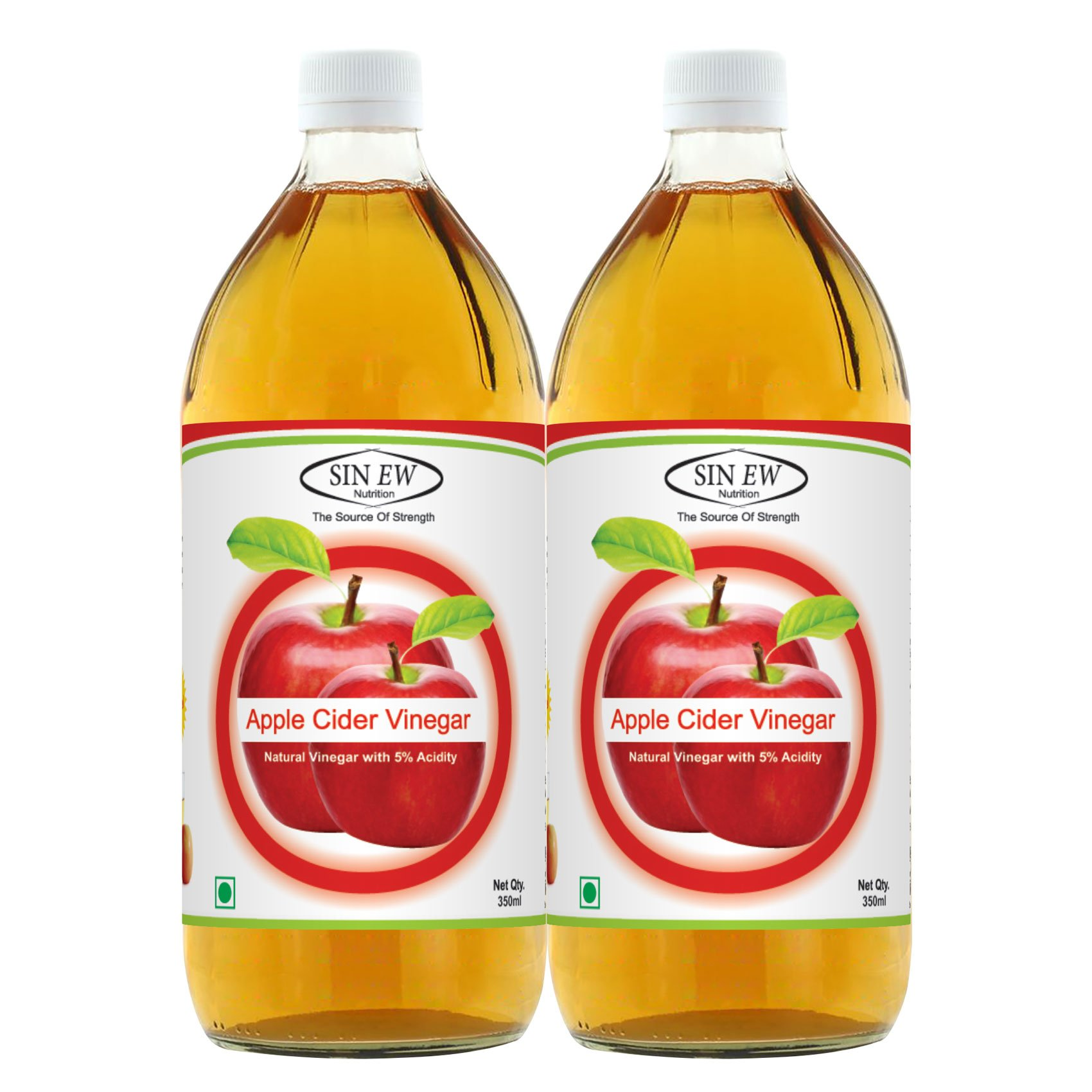 Sinew Nutrition Apple Cider Vinegar, 350ml (Pack of 2) product image