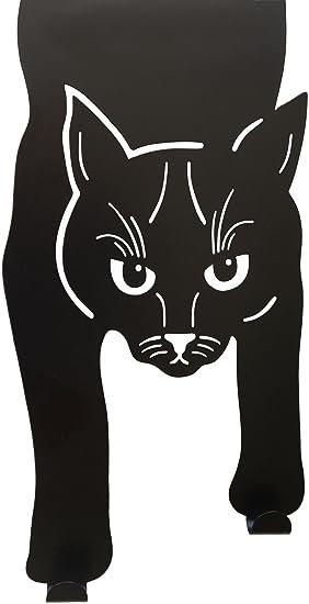 Cat-Nab - Colgador de doble gancho para colgar toallas, ropa, abrigos, batas, cinturones, llaves, negro: Amazon.es: Oficina y papelería