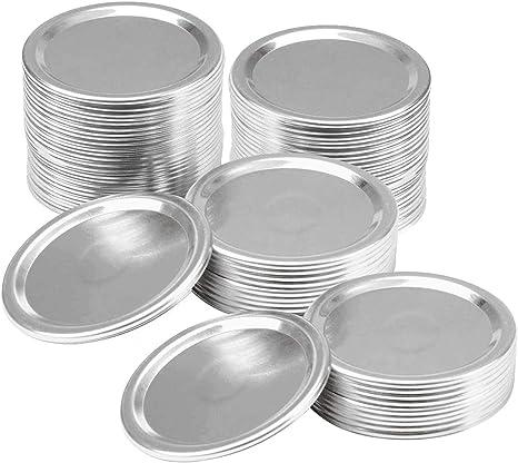 Regular Mouth Mason Jar Lids Canning Lids 50 Pcs 2.75in silver Split-Type Lids