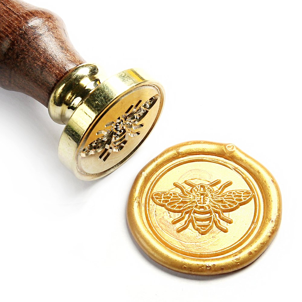 UNIQOOO Arts & Crafts Little Bee Wax Seal Stamp- Great for Decoration of Envelopes, Thank You Cards, Invitations, Gift Wrapping, DIY Project- Exceptional Gift Idea for Artistic Types, Bee Collectors