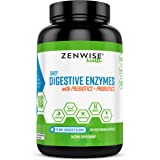 Zenwise Health Digestive Enzymes Plus Prebiotics & Probiotics Supplement, 180 Servings, Vegan Formula for Better Digestion &