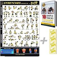 Eazy How To Stretch Banner Poster Oefening Workout GROOT 51 x 73cm Verhogen Flexibiliteit, Spier losmaken, Voorkom…