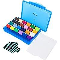 HIMI Gouache Paint Set, 24 Colors (30ml/Pc) Paint Set with Desktop Bucket,Unique Jelly Cup Design Non Toxic Paints for…