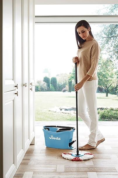 Vileda Turbo EASYWORLD Anillo & Clean Box Suelo Set de Limpieza, Plástico, Azul, 29,6 x 48,6 cm, de 2 Unidades: Amazon.es: Hogar