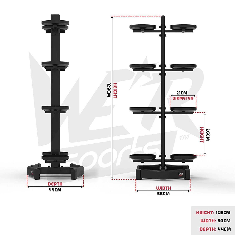 We R Sports Kettlebell Holder Rack Stand Hods 8 Kettlebells Home Gym Weight Rack
