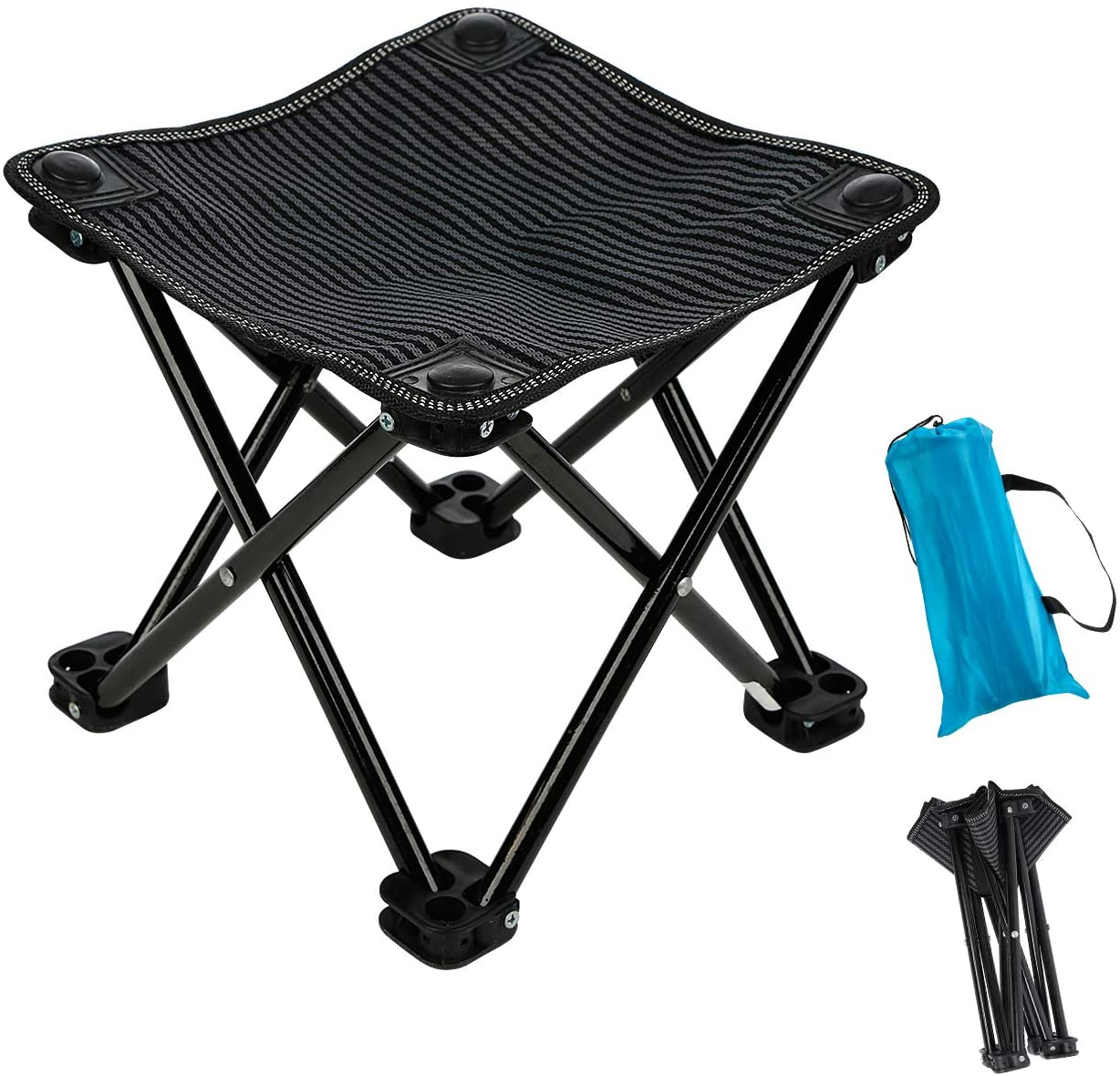Outdoor Folding Chair Portable Recliner Retractable Stool Fishing Camping Hiking
