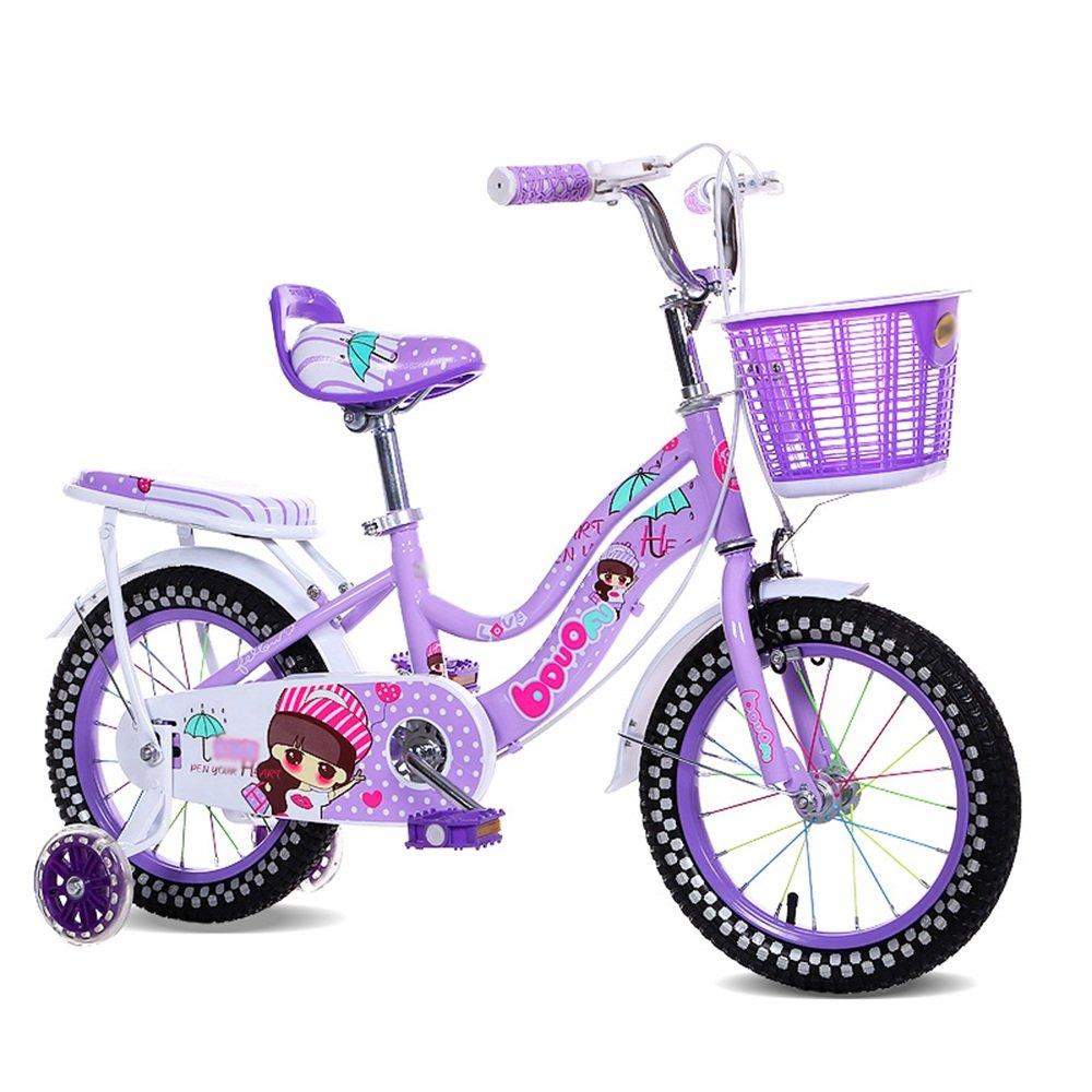 PJ 自転車 子供用自転車 ブルーピンクパープル 12インチ、14インチ、16インチ、18インチ 子供の贈り物金属のおもちゃ 子供と幼児に適しています ( 色 : パープル ぱ゜ぷる , サイズ さいず : 18 inch ) B07CRCLWDT 18 inch パープル ぱ゜ぷる パープル ぱ゜ぷる 18 inch
