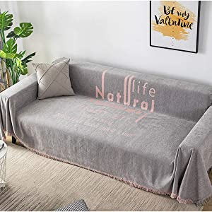 Reversible Sofa Throw Blanket with Tassel,Soft Fluffy Washable Jacquard Sofa Blanket,Chenille Fabric for Meditation Yoga Bedroom Gray 130x180cm(51x71inch)
