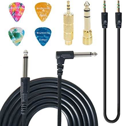 Cable Bass//Electric//Acoustic//Instrument to Amp Balanced Stereo Jack Guitar Lead