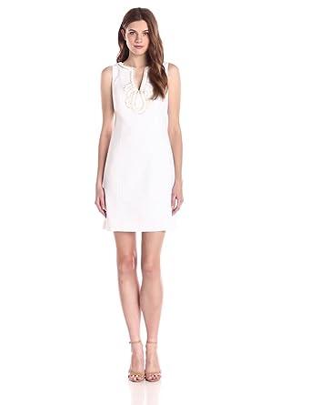 Lilly Pulitzer Women's Janice Shift Dress, Resort White, 14