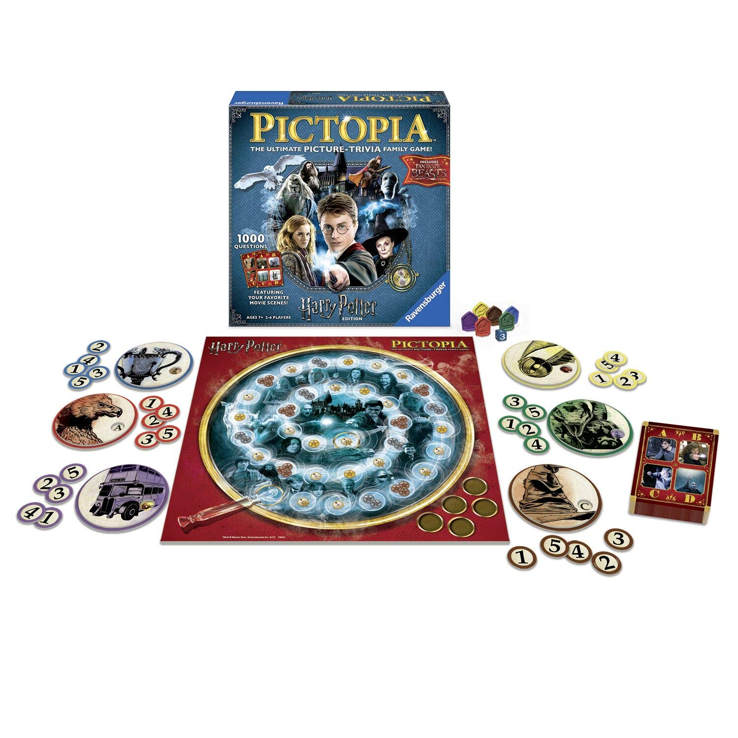 Wonder Forge Ravensburger Pictopia: Harry Potter Edition Family Trivia Board Game For Kids & Adults Age 10 & Up - Perfect Gift for Any Harry Potter Fan!