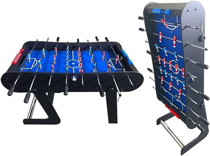 Mesa FUTBOLIN Madera Color Negro Robusto Y Resistente Nuevo Plegable - Easy Soccer: Amazon.es: Juguetes y juegos