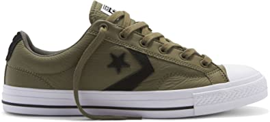 d7a94524513b18 Converse Men s Star Player Leather Ox Slippers Green Size  12 ...