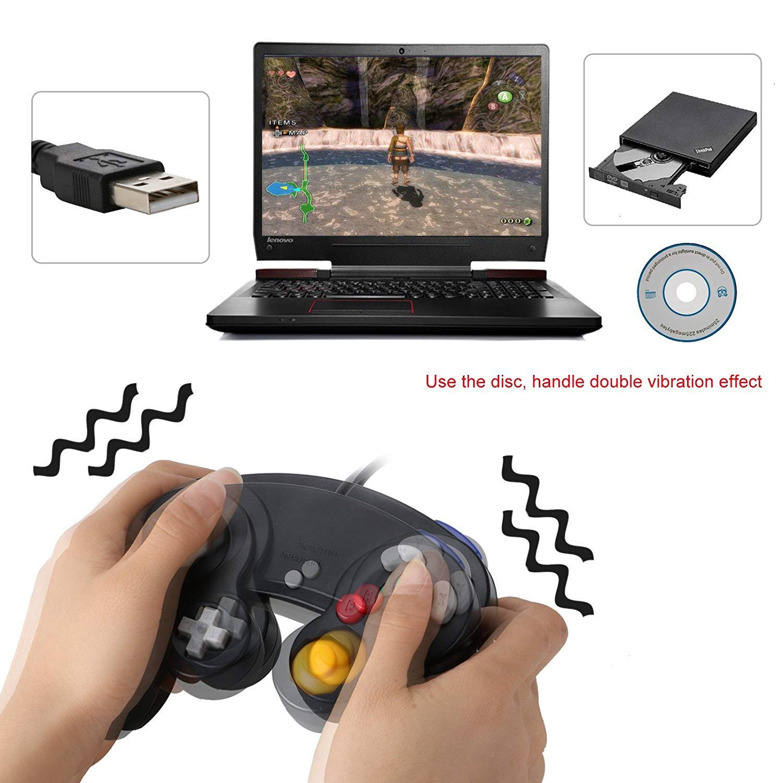 USB Purple and Blue Mekela 2 Packs 5.8 feet Classic USB Wired NGC Controller Gamepad resembles Gamecube for Windows PC MAC