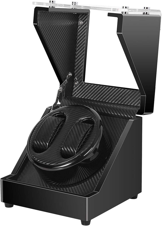 Yxx max Reloj devanadera Watch Winder automática de Doble Reloj con silencioso Motor de Madera Shell Piano Exteriores de Pintura Templados e Espejo de Cristal quicios de la Puerta