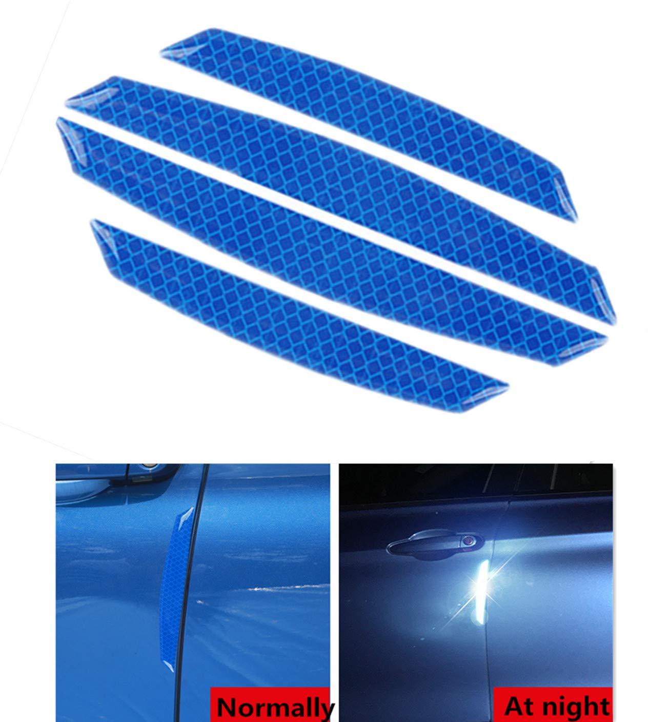 Puerta autom/ática Espejo retrovisor de coche lateral pegatina for el parachoques del coche de fibra de carbono protector de fibra de carbono de la PU de superficie anti-Rub borde de puerta Tiras Nomb