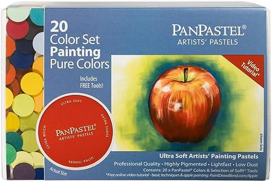 PANPASTEL 20 Color Set-Pure Colores//Juego de pintura