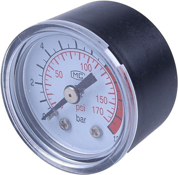 Toogoo R Sodial R 0 12 Bar 0 170 Psi 10 Mm Gewinde Gas Luftpumpe Druck Gauge Kompressor Manometer Auto