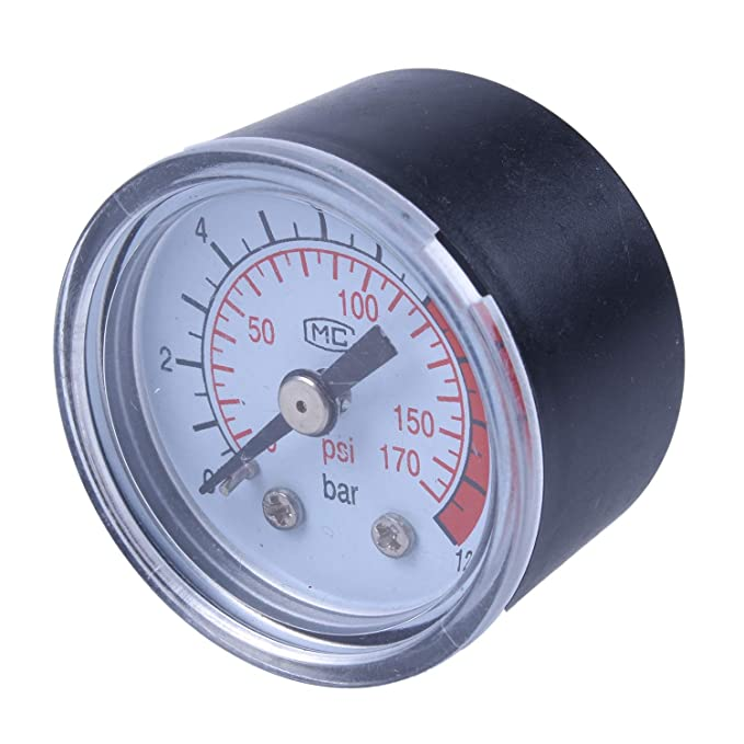 12 opinioni per TOOGOO(R) 0-12BAR 0-170PSI 10mm filettatura gas Air Pump Pressure Gauge