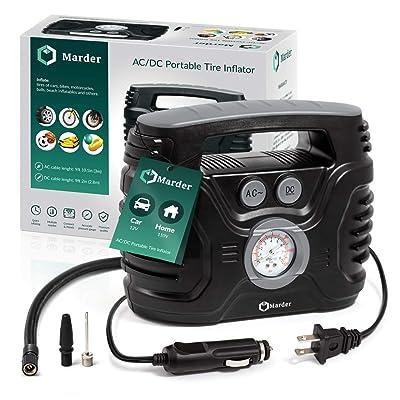 AC/DC Portable Air Compressor/Tire Inflator Powered by Car 12V DC and Home 110V AC: Automotive