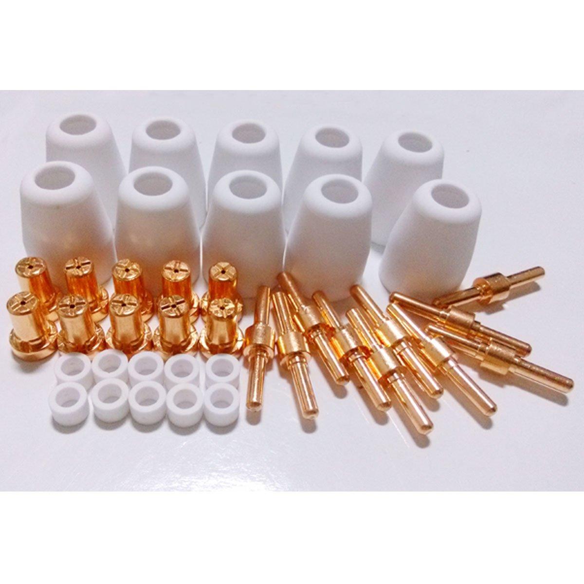 B.W.P PT-31 LGK40 Extended Electrodes and Nozzles Consumables Kit For Stahlwerk Plasma Cutter 40D CUT40 50D CUT50 Super 200P