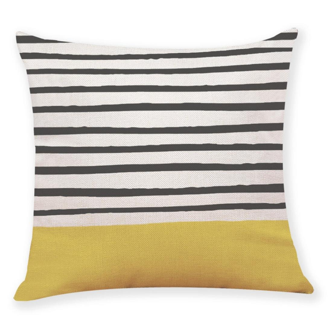 Lowprofile Home Decor Cushion Cover Yellow Style Print Throw Pillow Covers for Car Sofa Couch Pillowcase Decorative