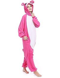 521b819c9e61 Adult Rabbit Animal Onesies Bunny Cosplay Costume Pajamas Halloween  Costumes for Men Women