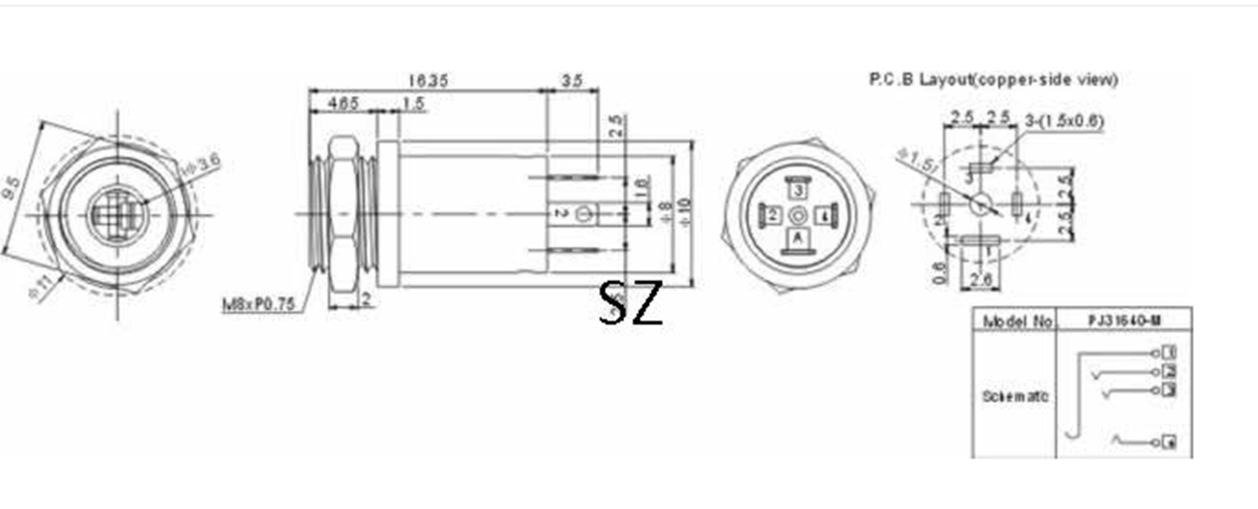 Mini Stereo Jack Wiring Electrical Diagrams Female 3 5mm Panel Mount Solder Connector Plug Diagram