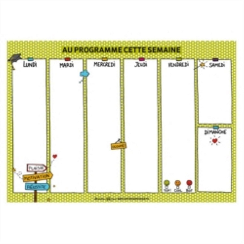 DLP Blocco Notes A4 settimanale al Programma Questa Settimana –  Derriè re La Porte