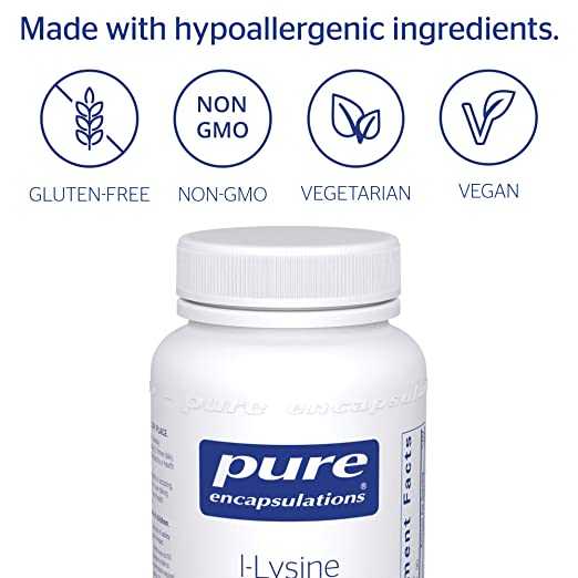 Pure Encapsulations l-Lysine Hypoallergenic Supplement