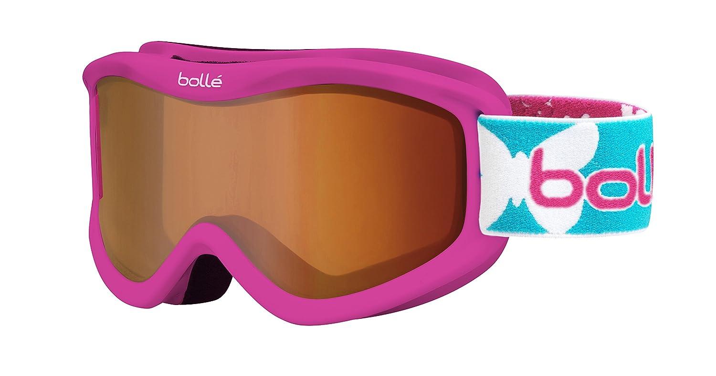 Bollé–Gafas de esquí V Rosa B Butterfly/Citrus Dark, 21508