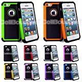 CellBoutique TM ShockProof Triple Hard back Case Cover For Apple iPhone 5c With Screen Protector White