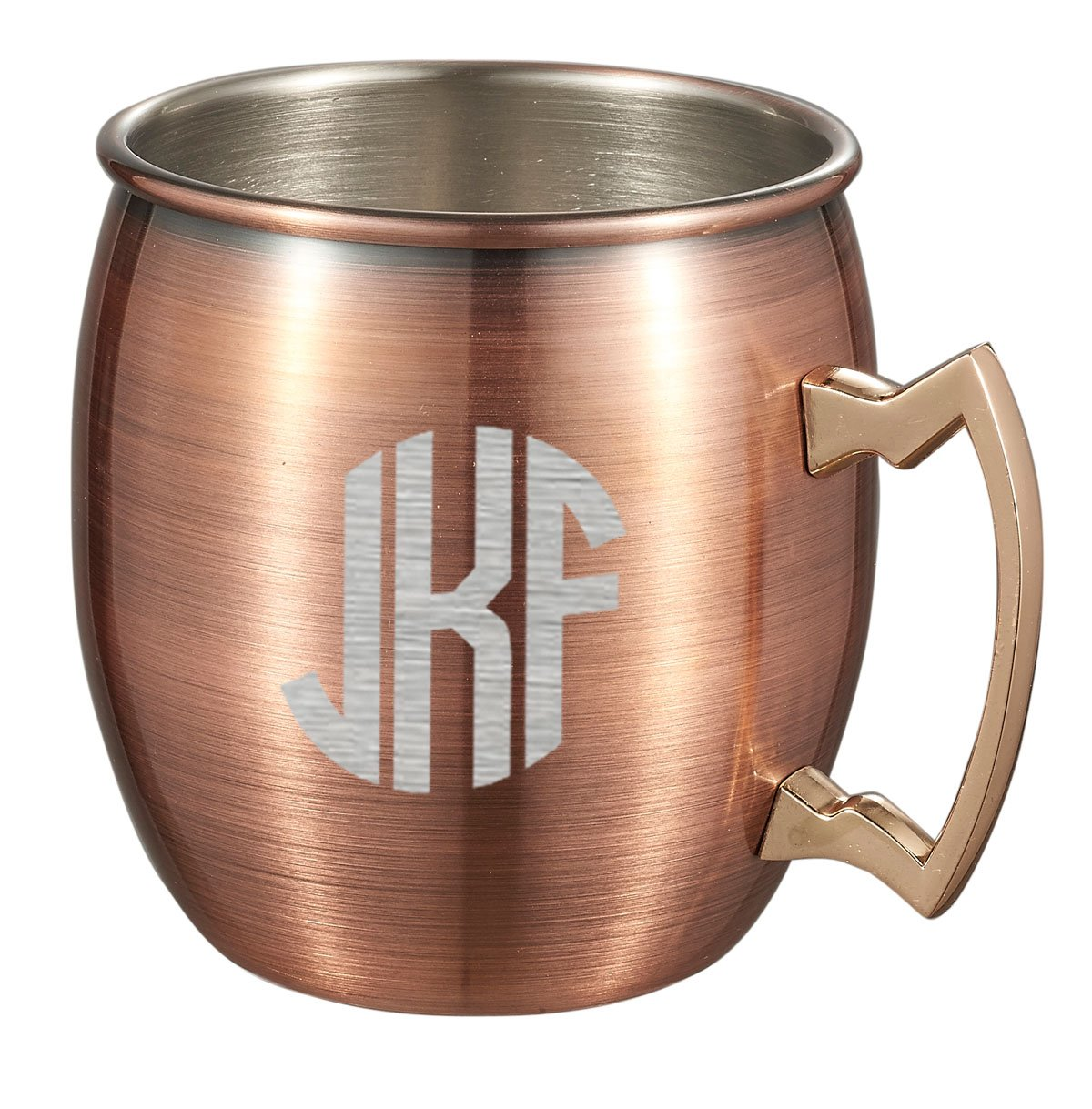 Personalized Antique Copper Finish Stainless Steel Moscow Mule Mug - Free Monogram