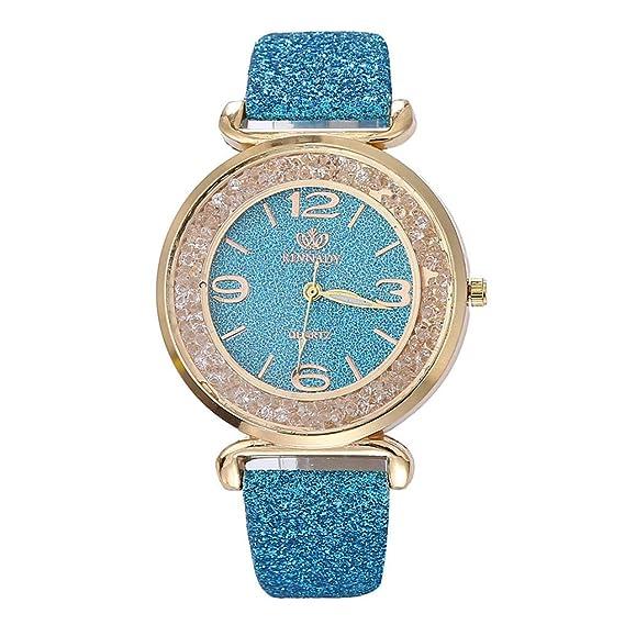 98e45fe8e2 Dorical Uhren Armbanduhr für Damen, bequem zu tragen, Luxus-Mode Kunstleder  Glas Minimalistische