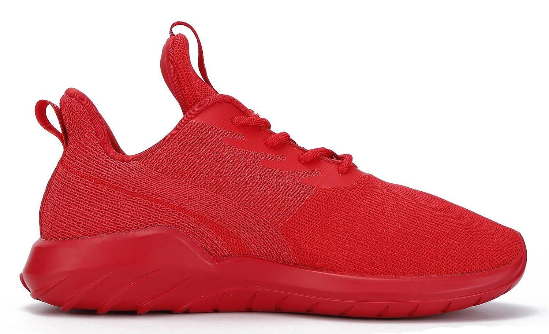 Soulsfeng Men Women Unisex Casual Fashion Sneakers Lightweight Breathable Athletic Sport Shoes B06VXLP3PN Women US8=EUR39=25CM|Red
