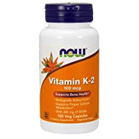 NOW Supplements, Vitamin K-2 100 mcg, Menaquinone-4 (MK-4), Supports Bone Health...