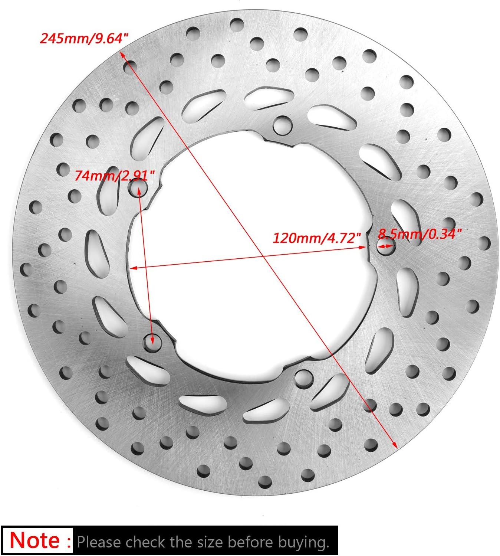 Areyourshop 245 mm Rotor de disco de freno trasero para Yamaha FZ6 FZ6R 2009-2017 XJ6 S XJ6F XJ6N 10-17