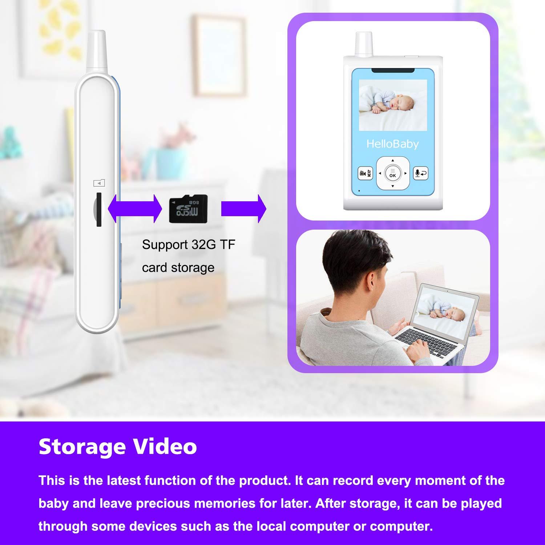Automatische Nachtsicht /& Motion Detection Alarm Wiegenlied Schnuller System HelloBaby HB25 Wireless Digital Video Babyphone Video Aufnahme Temperatur/überwachung Zwei Wege TalkBack