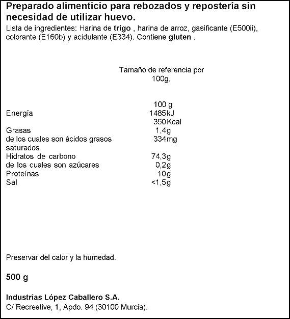 Yolanda - Harina Para Rebozar Sin Huevo 500 gr - Pack de 6 (Total ...