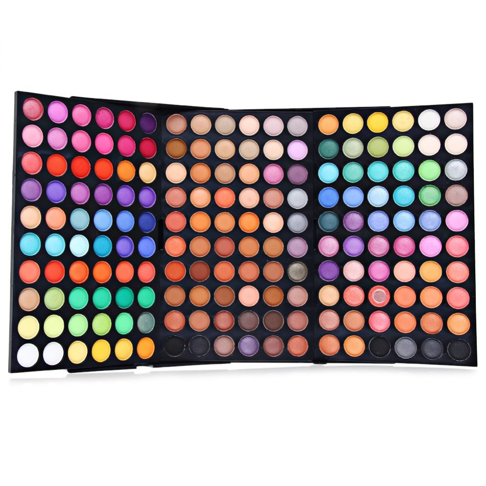 Start Makers 180 Colors Cosmetic Powder Glitter and Matte Eyeshadow Palette Makeup Set