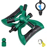 711TEK Garden Sprinkler Automatic Lawn Sprinkler Water Sprinkler Lawn Irrigation System 360 Degree Rotating Adjustable…