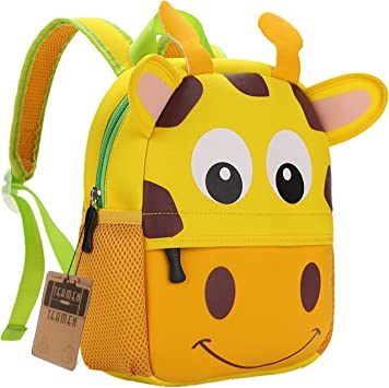 Oferta amazon: Mochila para niños, Animal Mochila Escolar TEAMEN® Toddler Kids Mochila Escolar para niños pequeños, Mochila para 2-5 años (Jirafa)