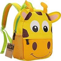TEAMEN - Zaino per Bambini, per la Scuola, con Animali, età: 2-6 Anni