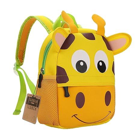 6c5bf4a4041e8c TEAMEN® Zaino per bambini, Animale Scuola Borsa, Zaino per bambino,ragazzi,