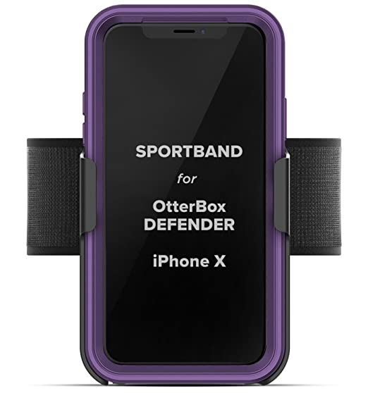 sports shoes 5b4c7 3f5eb Workout Armband for Otterbox Defender Case - Apple iPhone X/iPhone Xs  (Encased) Adjustable Sports Band (Fits arm Sizes XS-XXL) (case not Included)