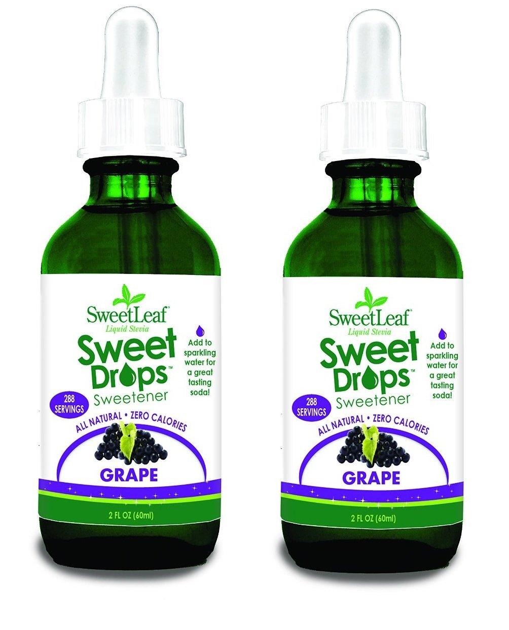 Sweet Drops Liquid Stevia Grape 2 Ounce (Set of 2)