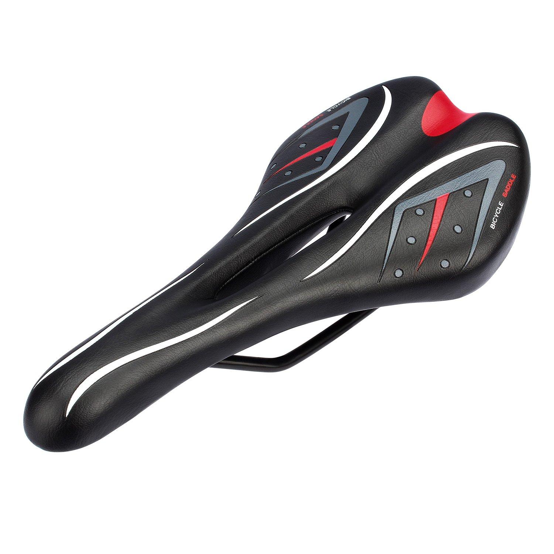 Fahrradsattel, leichte und komforte Rennradsättel Cityradsattel MTB Gel Sattel Mountainbike Sattel Tourensattel Trekking