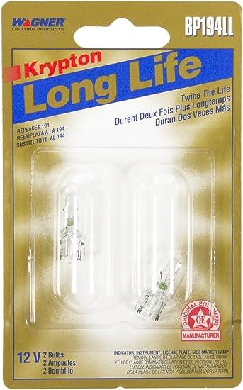 Card of 2 Wagner Lighting BP194LL Long Life Miniature Bulb